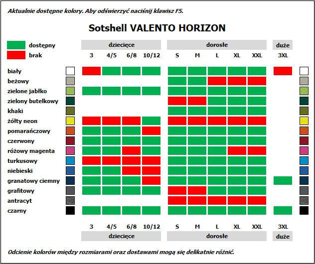 ALGODON VALENTO SOFTSHELL HORIZON